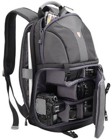 """SUMDEX batoh pro kameru a notebook NJC-486BK/ do 14,1""""/ černé"""