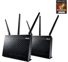 ASUS RT-AC67U, AC1900, Wi-Fi Gigabit Dual-Band Aimesh Router, 2ks - 90IG04K0-BO3100