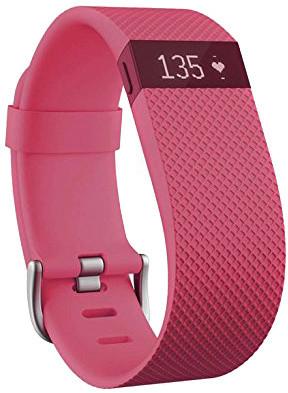 Fitbit Charge HR, L, růžová