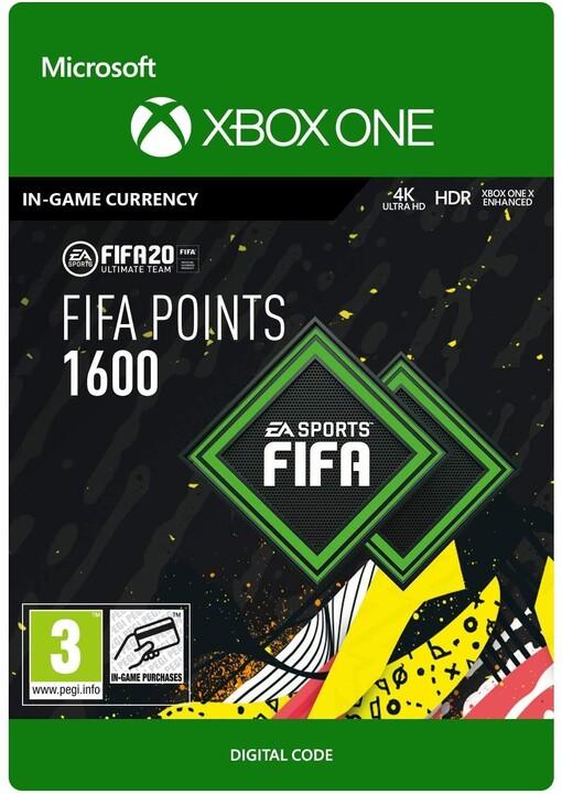FIFA 20 - 1600 FUT Points (Xbox ONE) - elektronicky