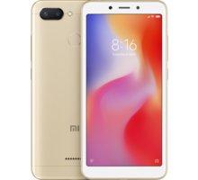 Xiaomi Redmi 6 Dual, 3GB/32GB, zlatý  + 500Kč voucher na ekosystém Xiaomi