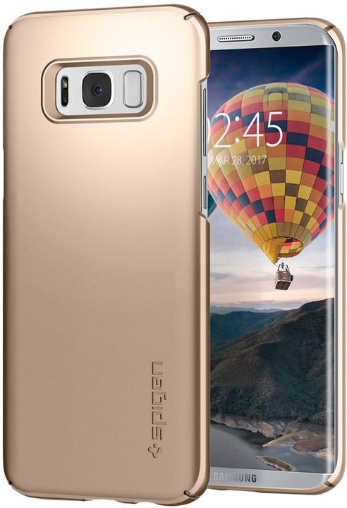 Spigen Thin Fit pro Samsung Galaxy S8+, gold maple