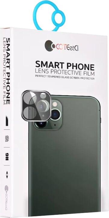 COTEetCI tvrzené sklo fotoaparátu pro Apple iPhone 11 Pro/11 Pro MAX, černá