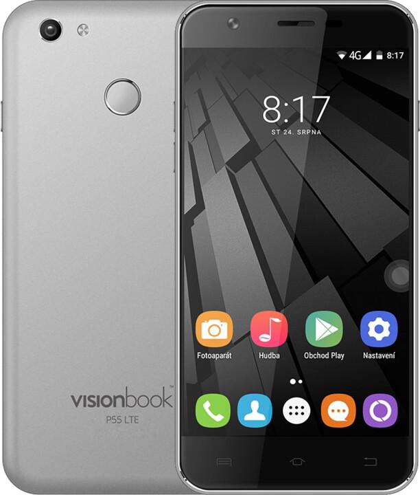 UMAX VisionBook P55 LTE, 2GB/16GB, šedá