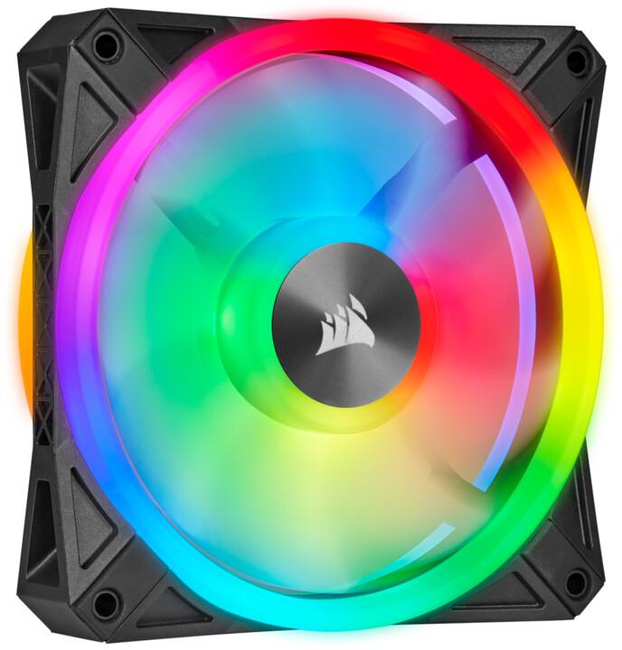 Corsair iCUE QL120 RGB, 120mm, černý