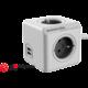 PowerCube EXTENDED USB prodlužovací přívod 3m - 4ti zásuvka, USB, šedá