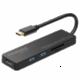 Promate hub USB-C - 2xUSB 3.0, HDMI, čtečka SD karet, 4K, černá