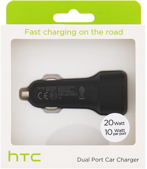 HTC CC C700 Fast Dual USB Autodobíječ 2x10W/2A (EU Blister)
