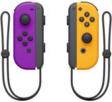Nintendo Joy-Con (pár), fialový/oranžový (SWITCH) - NSP078