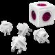 PowerCube REWIRABLE + Travel Plugs rozbočka 5ti zásuvka, fialová