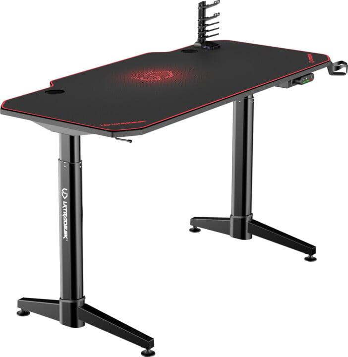 Ultradesk Level, černý/červený
