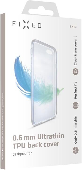 FIXED ultratenké TPU gelové pouzdro Skin pro Xiaomi Redmi Note 8T, 0,6 mm, čiré