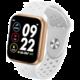 IMMAX chytré hodinky SW13 PRO, bílo-zlaté Kuki TV na 2 měsíce zdarma