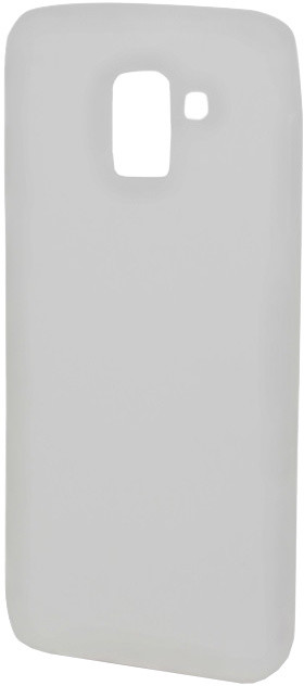 EPICO Pružný plastový kryt pro Samsung Galaxy J6 (2018) SILK MATT - bílý transparentní