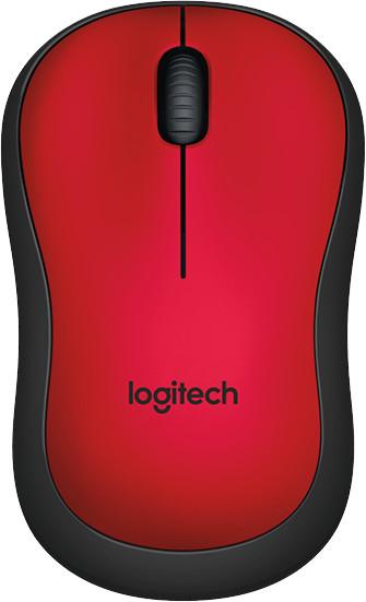 Logitech M220 Silent, červená