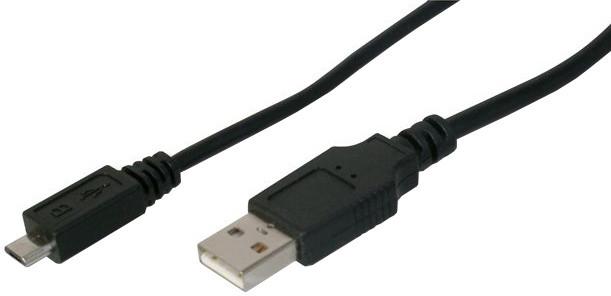 PremiumCord kabel micro USB 2.0, A-B 0,75m kabel navržený pro rychlé nabíjení