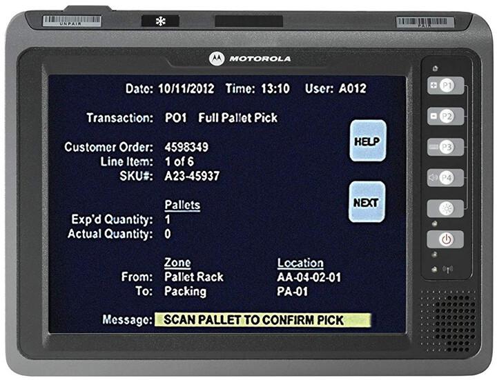 Zebra terminál VC70N0, Wi-Fi, 2GB, 512MB RAM, BT, RS232, Win 7 Emb Pro, IP66, černá