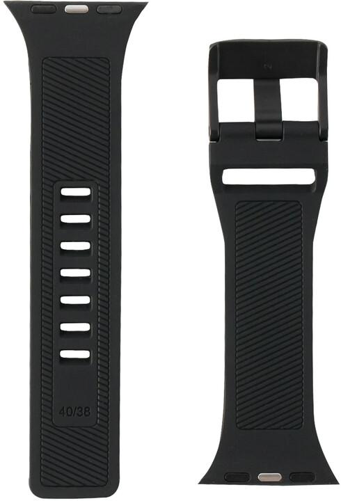 UAG silikonový řemínek Scout Strap pro Apple Watch, 38/40mm, černá
