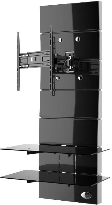 Meliconi 488310 GHOST DESIGN ROTATION Sestava pro TV a komponenty k instalaci na zeď, černá