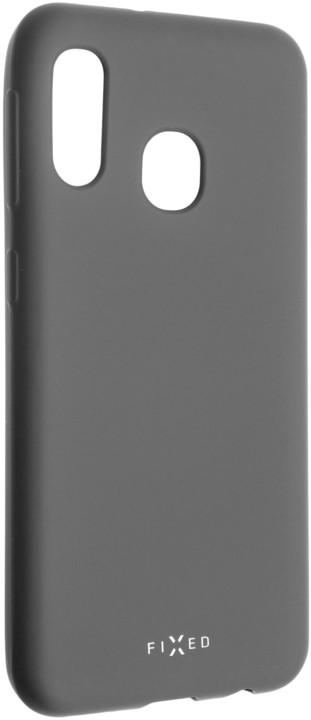 FIXED zadní pogumovaný kryt Story pro Samsung Galaxy A20e, šedá