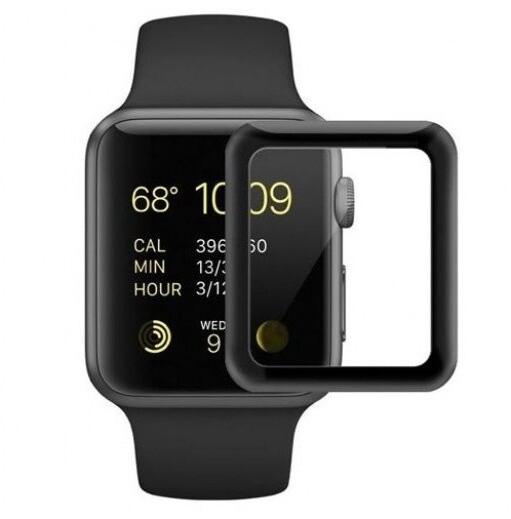 COTEetCI tvrzené sklo 4D Black-Rim pro Apple Watch, Full Glue, 38mm