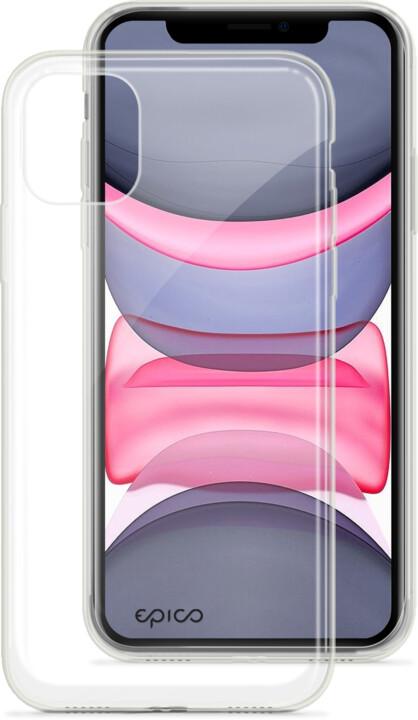 EPICO twiggy gloss ultratenký plastový kryt pro iPhone 11, bílá transparentní