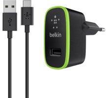 Belkin USB-C 230V nabíječka 5V/2,1A, vč. USB-A to USB-C kabelu, černá - F7U001vf06-BLK