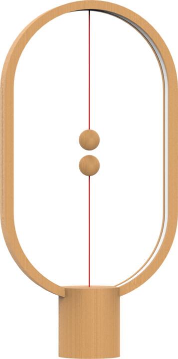 Heng Balance Lamp Ellipse USB, světlé dřevo