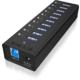 ICY BOX IB-AC6110, USB 3.0 Hub, 10-Port