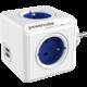 PowerCube ORIGINAL USB rozbočka-4 zásuvka, modrá