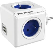 PowerCube ORIGINAL USB rozbočka-4 zásuvka, modrá - 8718444082262