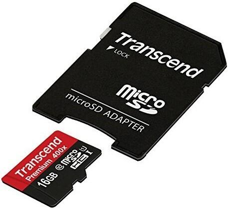 Transcend Micro SDHC Premium 400x 16GB 60MB/s UHS-I + SD adaptér