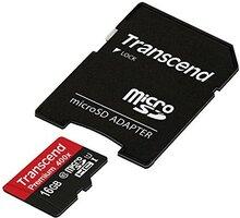 Transcend Micro SDHC Premium 400x 16GB 60MB/s UHS-I + SD adaptér - TS16GUSDU1