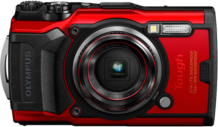 Olympus TG-6 + POWER KIT, červená