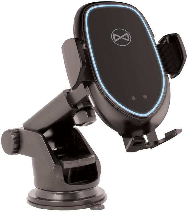 Forever univerzální automatický držák do auta s bezdrátovým nabíjením ACH-100, černá
