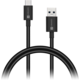 CONNECT IT Wirez COLORZ Kabel USB-C (Type C) - USB-A, 1 m, černý