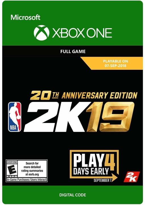 NBA 2K19 - 20th Anniversary Edition (Xbox ONE) - elektronicky