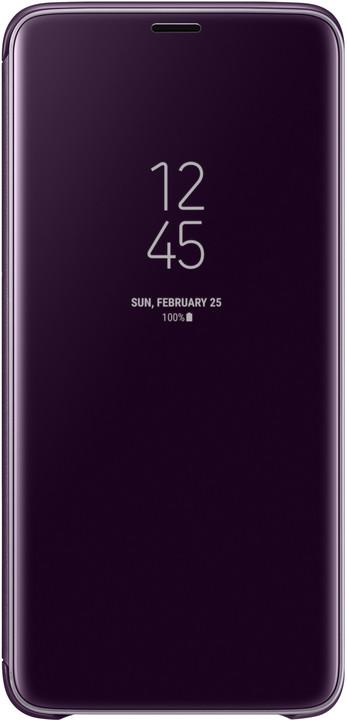 Samsung flipové pouzdro Clear View se stojánkem pro Samsung Galaxy S9+, fialové