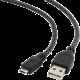 Gembird CABLEXPERT kabel USB A Male/Micro B Male 2.0, 50cm, High Quality, černá