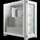 Corsair iCUE 4000X RGB, bílá