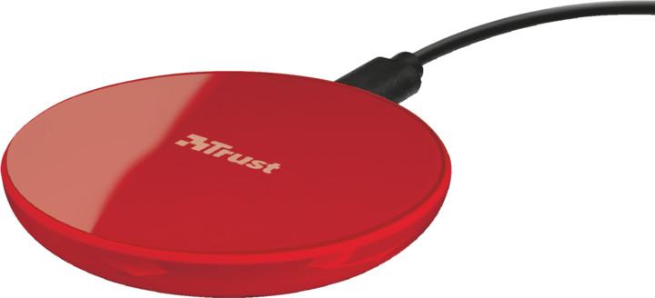 Trust Primo 10 Fast Wireless Charger for smartphones, červená