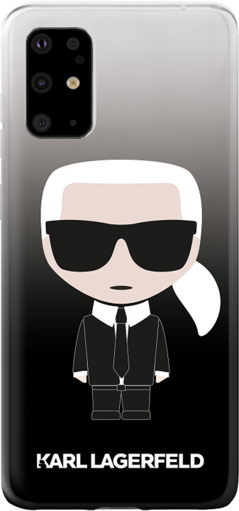 Karl Lagerfeld Degrade kryt pro Samsung Galaxy S20 Ultra, černá