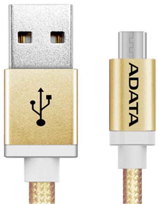 ADATA Micro USB kabel pletený, 1m, zlatý