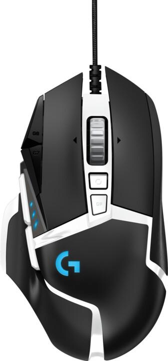Logitech G502 SE Hero, černá/bílá