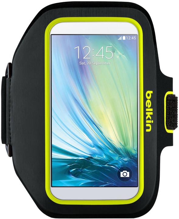 Belkin Sport fit Plus Armband pouzdro pro Galaxy S6, limelight