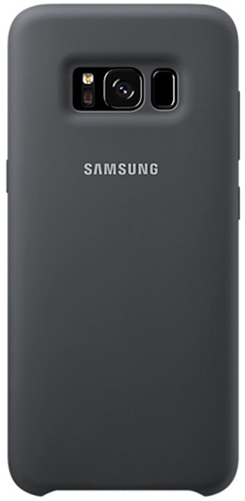 Samsung S8 silikonový zadní kryt, stříbrno/šedý