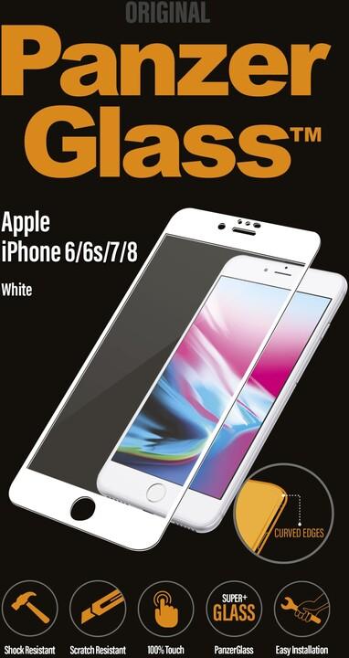 PanzerGlass - Ochrana obrazovky pro Apple iPhone 7/8 - bílá, křišťálově čistá