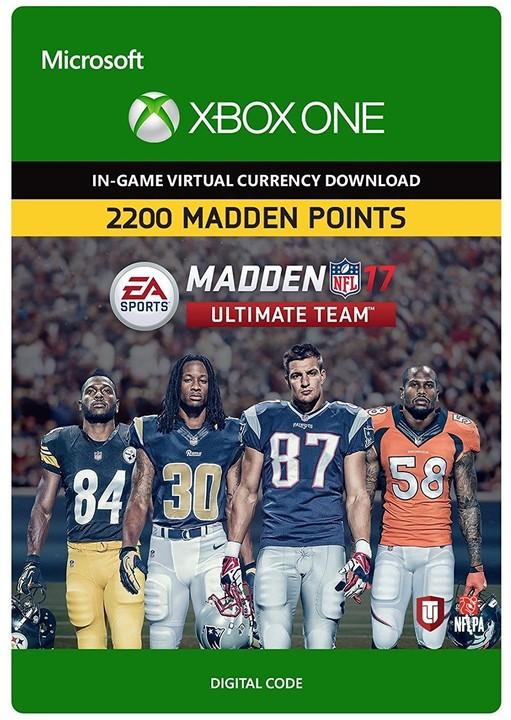 Madden NFL 17 - 2200 MUT Points (Xbox ONE) - elektronicky