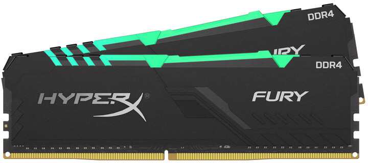 HyperX Fury RGB 16GB (2x8GB) DDR4 2666, black