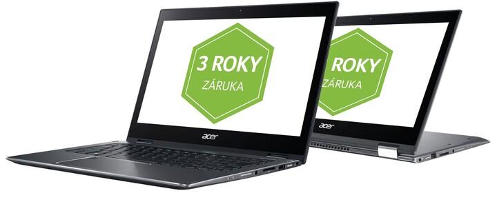 Acer Spin 3 (SP314-52-34M3), šedá